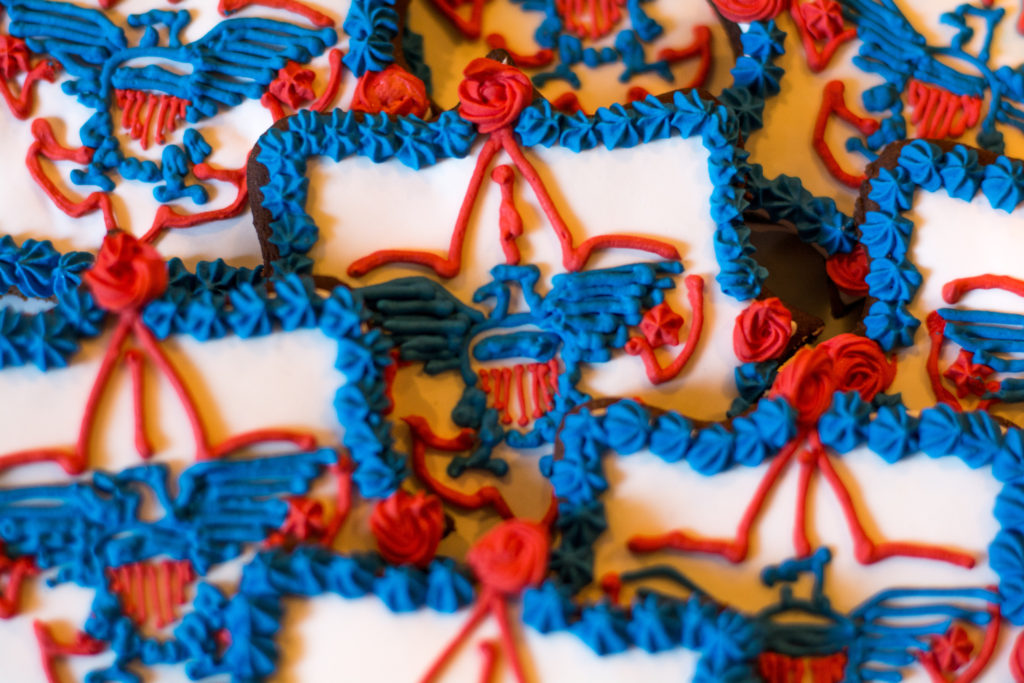Eagle Scout logo cookies