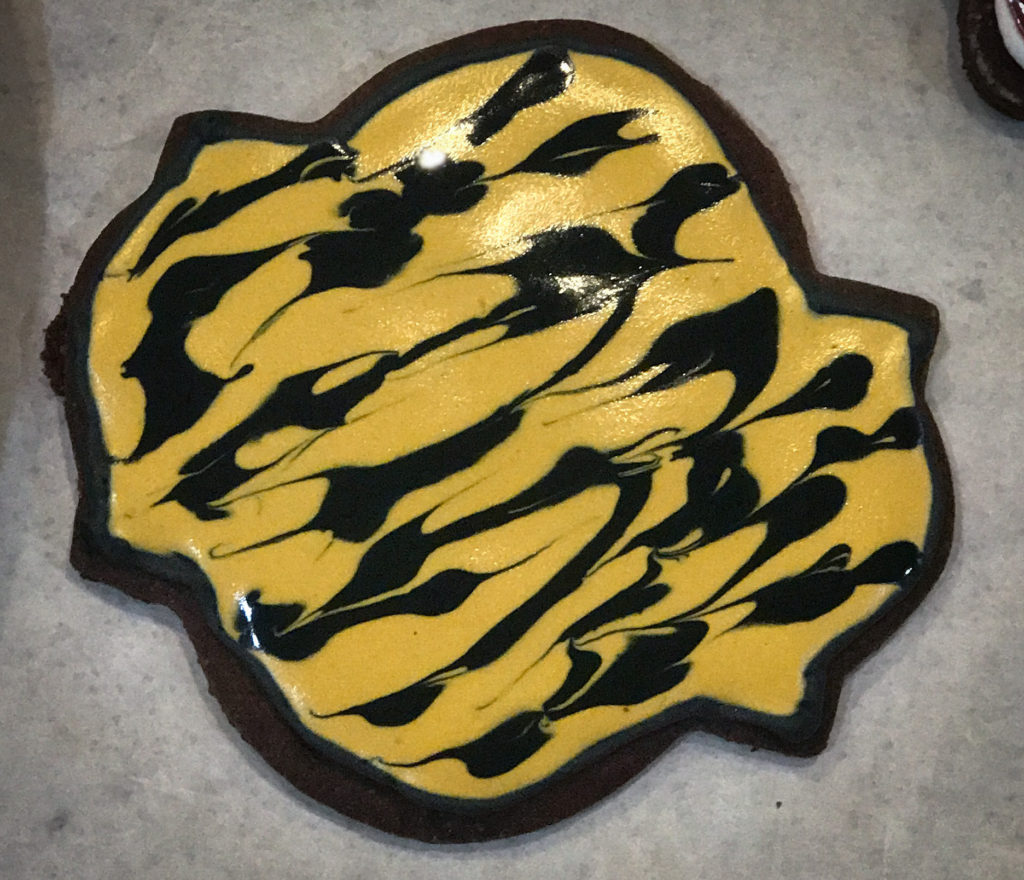 Tiger print chocolate hazelnut cookie