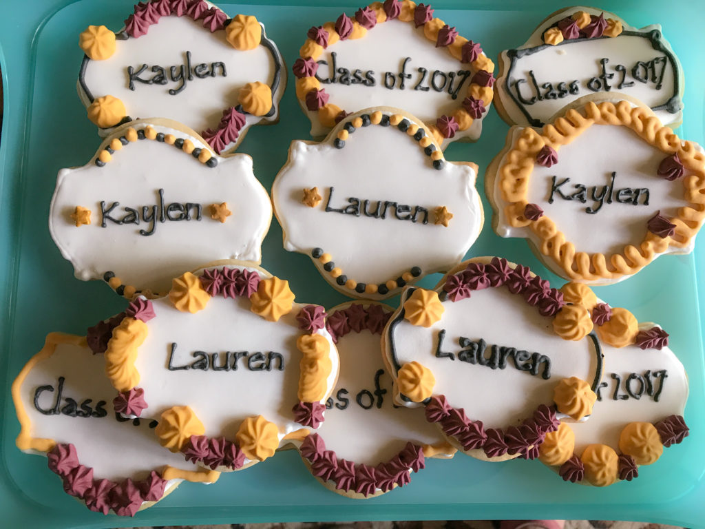 Graduation cookies for Lauren and Kaylen