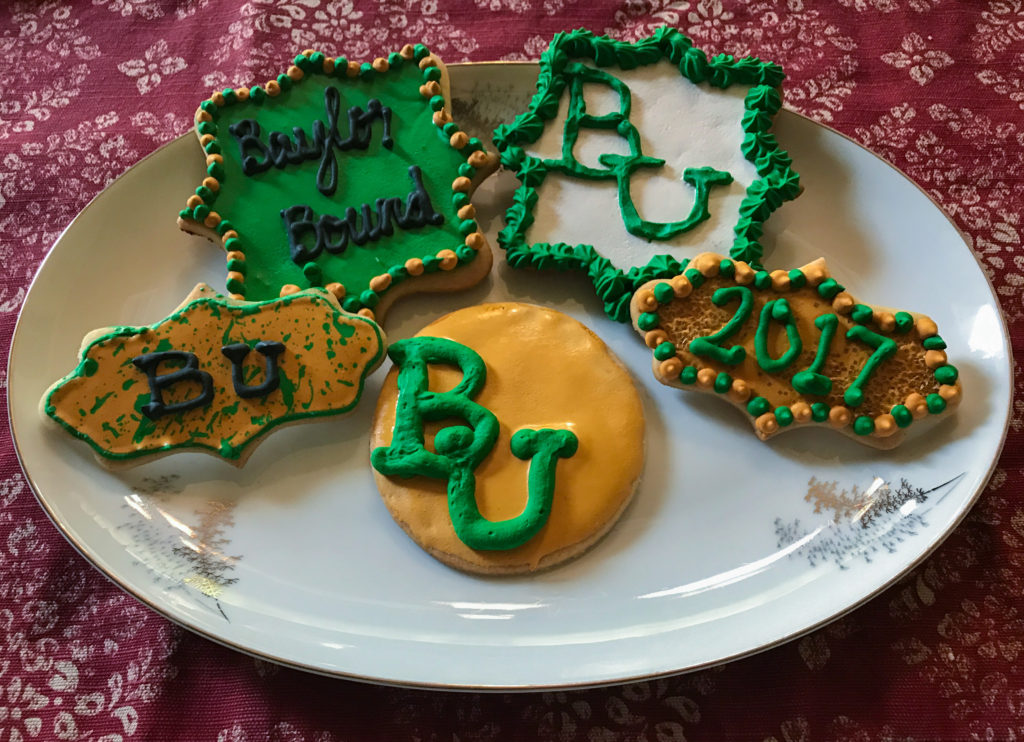 Graduation cookies but headed to Baylor