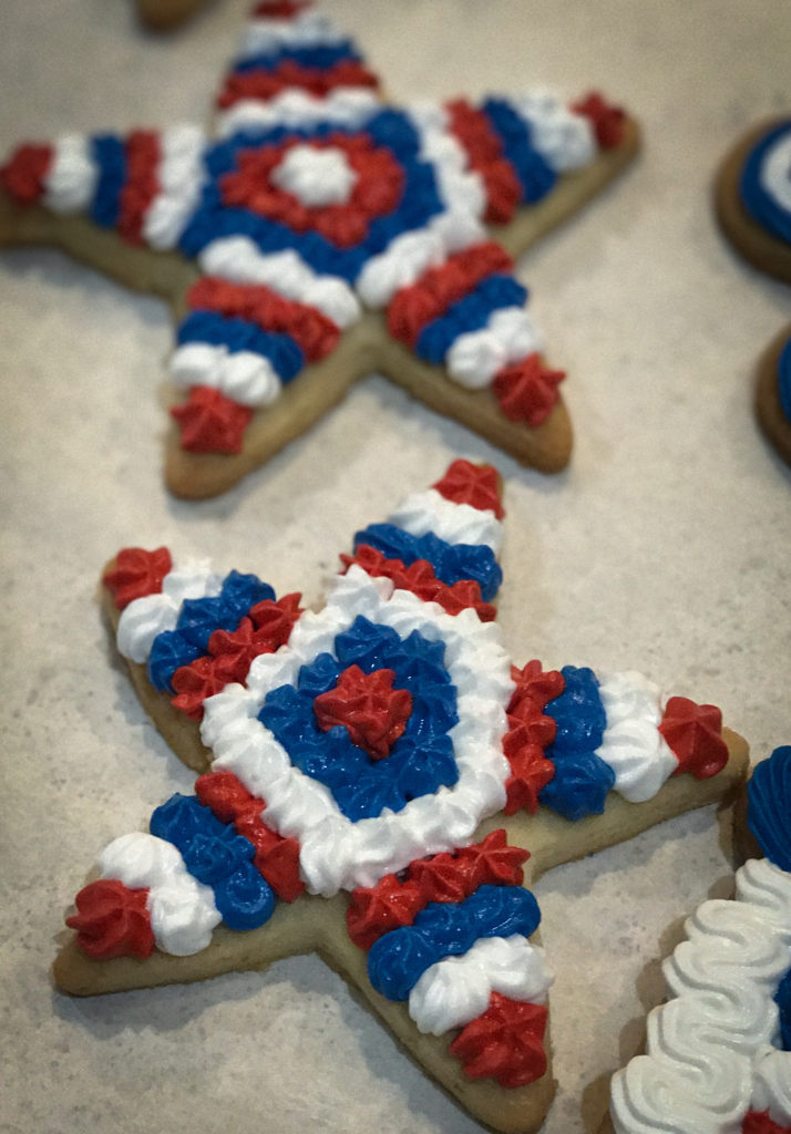 Lemon Fourth of July cookie